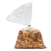 almonds in a poly bag