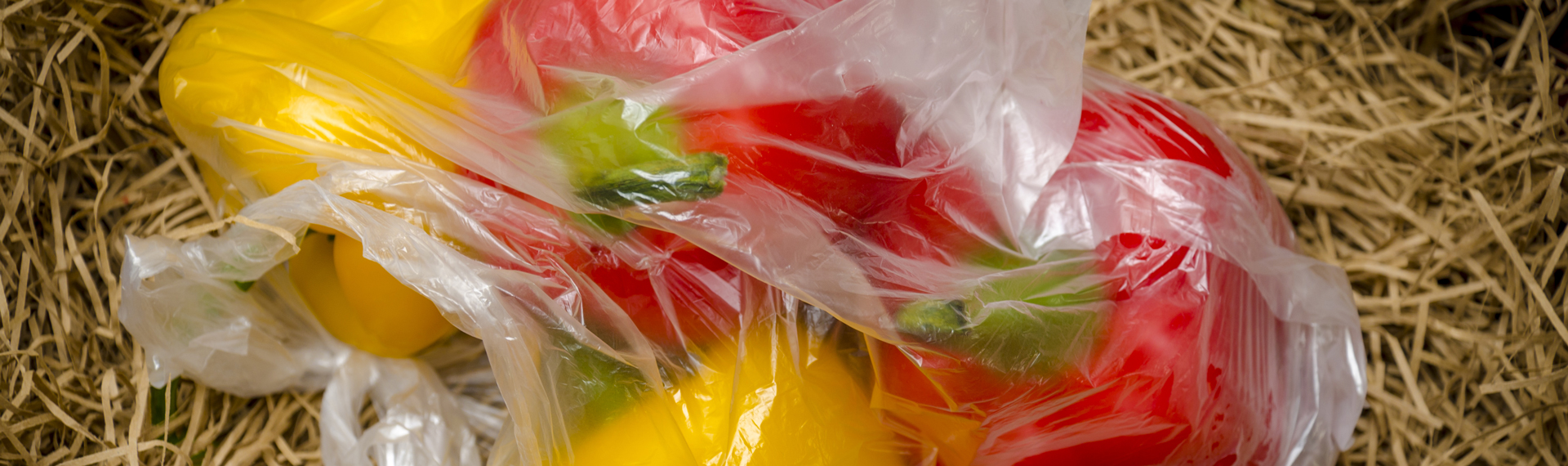 peppers in a produce bag
