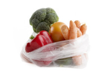 produce bag with vegetables